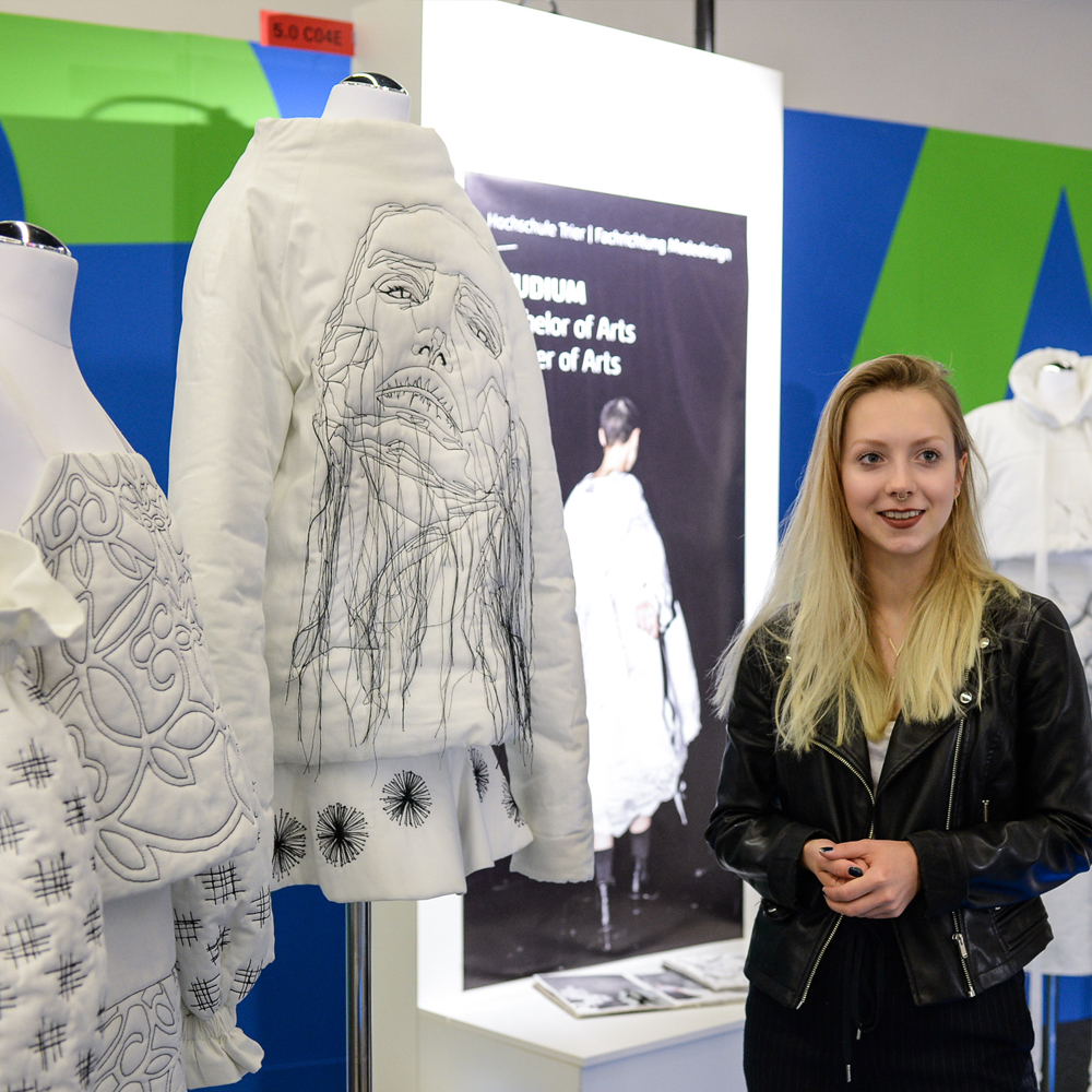 Student presents her selfmade clothes