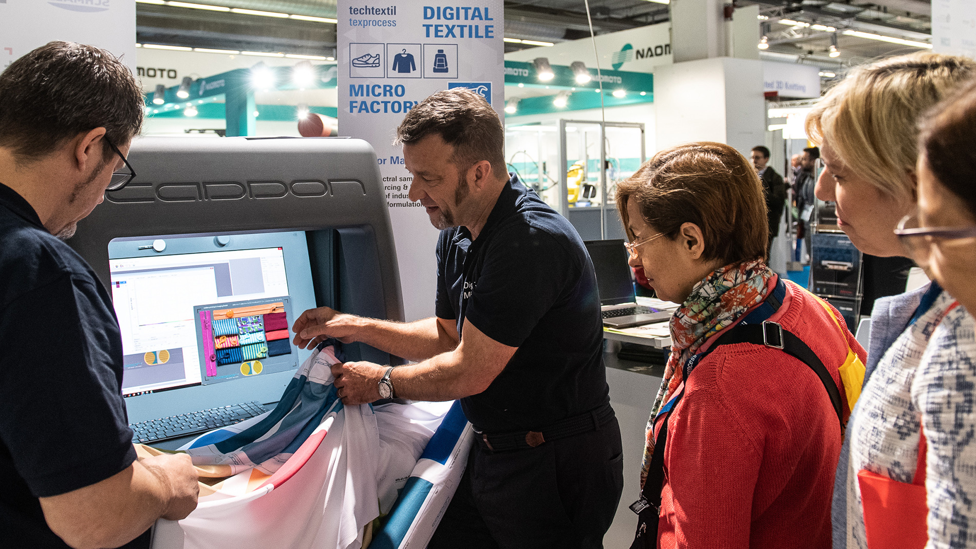 Techtextil and Texprocess visitors during the last Texprocess